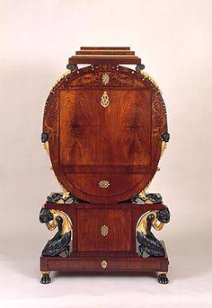 Biedermeier Writing Cabinet / Vienna, Austria / ca. 1810–15