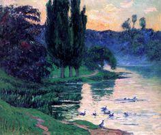 Pond With Ducks - Henri Moret