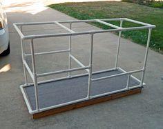 DIY cat enclosure | assembled PVC frame