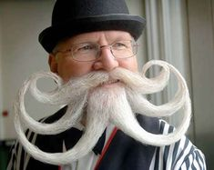 Bizarre Beards and Mustaches Look Like Works of Art #hairstyles trendhunter.com