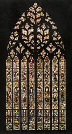 York Minster York Cathedral Nave, west window wI, Whole window Corpus Vitr. - York Minster York Cathedral Nave, west window wI, Whole window Corpus Vitrearum Medii Aevi: P -