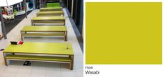 Waldo Table, made with Formica® Laminate by @jamesburleigh. Great design and colour!