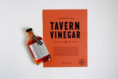 Christine Wisneiski: Tavern Vinegar Co. Packaging