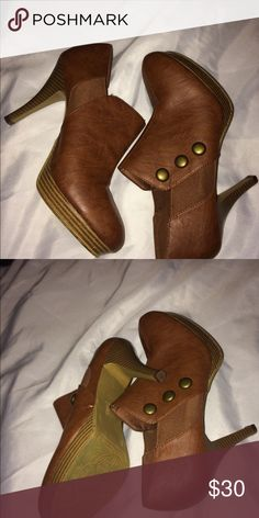 Ankle boots Brown leather High heel ankle boots in great condition FIONI Clothing Shoes Ankle Boots & Booties