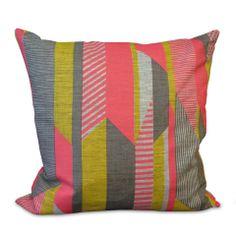Tamasyn Gambell Cushion – Pink/Yellow/Grey