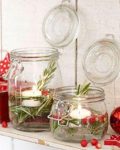 Χριστουγεννιάτικα κηροπήγια-φαναράκια
