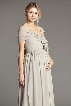 11 Maternity Wedding Gowns To Flaunt Your Baby Bump #refinery29  http://www.refinery29.com/maternity-wedding-gowns#slide9  RELATED: This Hilton Head Wedding Has DIY's Galore