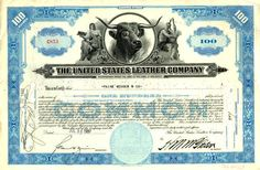 United States Leather Company  - Original Dow Average Component - 1943