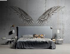 Design by alba ferrari London Art, Mural Art, Wall Treatments, Dream Bedroom, Wall Design, Tapestry, Interior Design, Wallpaper, Prints