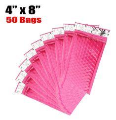 iMBAPrice 50-pack # 000 (10,2 x 20,3 cm) de couleur ROSE VIF autoadhésives Poly enveloppes à bulles rembourré d'expédition (total 50 Sacs): Amazon.fr: Fournitures de bureau