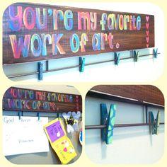 Kids' Artwork Display - by LinnyFish Creations