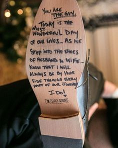 Message from bride to groom on bottom of shoe lovenote shoe message weddingday wedding bride iloveyou shoes groom groomsshoes Cute Wedding Ideas, Wedding Goals, Wedding Tips, Wedding Bride, Wedding Planning, Dream Wedding, Wedding Hacks, Bride Groom, Fall Wedding