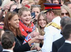 Prince Harry meets members of the public in Freedom Square on May 16, 2014 in Tallinn, Estonia