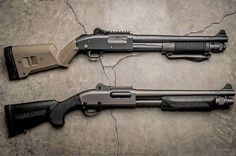 Top or Bottom? Either one would be a good option for home defense. Check out our shotgun class and bring yours! Weapons Guns, Guns And Ammo, Tactical Shotgun, Tactical Gear, Tactical Firearms, Combat Shotgun, Hunting Guns, Cool Guns, Hand Guns