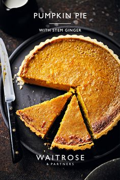 Don't let any pumpkin go to waste this Halloween with this spiced pie. Perfect served warm with ice cream or chilled with thick cream. Tap for the recipe. Tart Recipes, Sweet Recipes, Baking Recipes, Dessert Recipes, Sweet Pie, Sweet Tarts, Waitrose Food, Delicious Desserts, Yummy Food