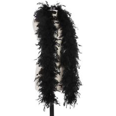 Black 40 Gram Chandelle Feather Boas