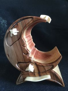 Man in the Moon bandsaw box by woodchunks on Etsy