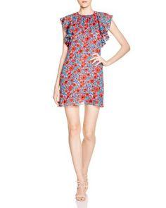 Rebecca Taylor Lindsay Ruffled Sleeve Floral Print Dress | Bloomingdale's