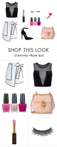 """""""Sketchy girl"""" by ustine on Polyvore featuring moda, Chicwish, Varley, OPI, Chloé, Kevyn Aucoin, Battington i Topshop"""