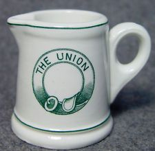 The Union Restaurant Hotel Military Advertising Club Individual China Creamer