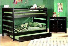 Laguna Black Full/Full Bunk Bed $570...$470 for twin @ Living Spaces