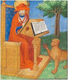 Large thorn, poor lion. Chavannes-près-Renens, Archives cantonales vaudoises, P Château de La Sarraz H 50, f. 124r – Book of Hours of Jean de Gingins (http://www.e-codices.unifr.ch/en/list/one/acv/P-Sarraz-H-0050)