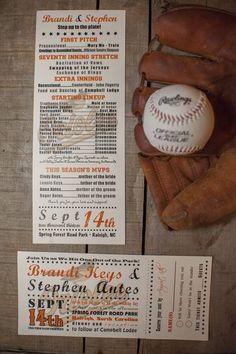 baseball themed wedding invitations