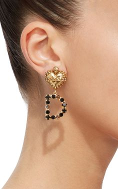 Dolce & Gabanna Statement Logo Earrings. Available for pre-sale with an estimated May 7, 2018 delivery.