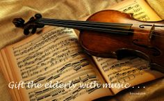 Christmas 365: Day 2 - Gift the elderly with music.  Livin in San Diego Livininsd.com  #payitforward #randomactsofkindness #giving