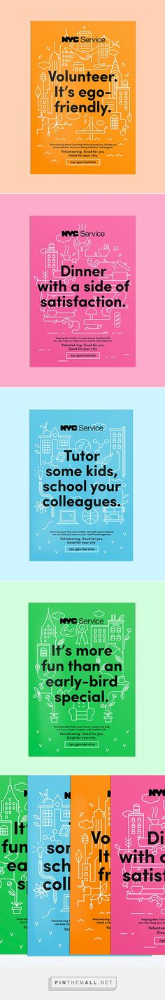 NYC Service Poster Campaign on Behance... - a grouped images picture - Pin Them All