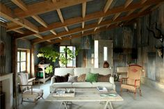 corrugated iron weekend home
