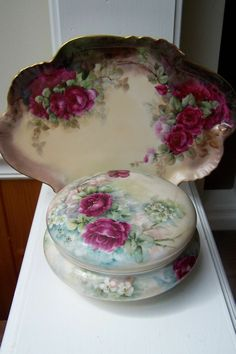 Turn of the Century Limoges France Victorian Dresser Jewelry Tray from theporcelainartoflimoges on Ruby Lane
