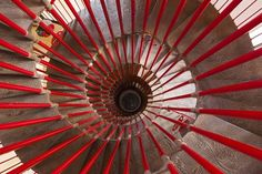 Looking down the spiral staircase in the tower of Ljubljana castle Wall Art, Canvas Prints, Framed Prints, Wall Peels Red Wall Art, Red Art, Framed Artwork, Framed Prints, Canvas Prints, Slovenia Travel, Concrete Stairs, Castle Wall, Painted Stairs