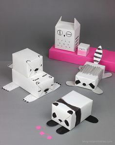 DIY animal gift wrap idea
