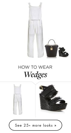 """White jumpsuit"" by juliehalloran on Polyvore featuring Oscar de la Renta and Dolce&Gabbana"