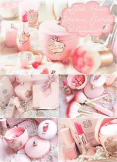 I WANT Etude House Princess Etoinette makeup but you can't get it here in the US! Etude House, Kawaii Makeup, Cute Makeup, Lip Makeup, Lovely Perfume, Korean Make Up, Eyeliner, Blusher, Everything Pink