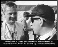 Malcolm & (Ray, the newsletter graphic designer) from ICT were given access all area VIP passes to London PRIDE.  Here's Malcolm interviewing Holly Johnson at London PRIDE for the Cornwall ICT newsletter.  #LGBT  http://www.lgbthistorycornwall.blogspot.com
