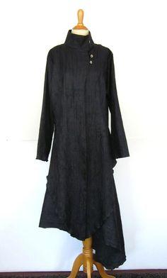 Trine Kryger Simonsen Avant Garde Jacket Skirt Set Suit 42 L Artsy Lagenlook EUC  | eBay