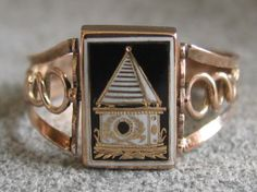 Mourning ring for husband and wife - 1807