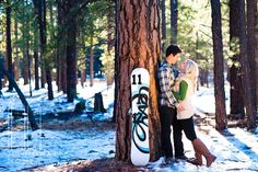 © Illuminated Moments | Save the Date Snow Board
