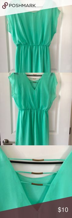 Beautiful turquoise dress Great condition. Only worn once, too short for me Dresses