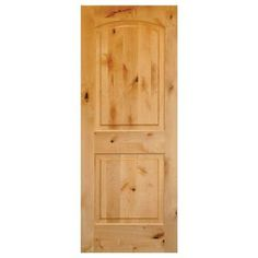 Krosswood Doors Rustic Knotty Alder 2-Panel Top Rail Arch Solid Wood Core Stainable Interior Door Slab-AE-1212480SLB - The Home Depot