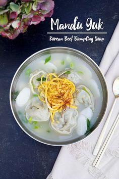 Asian Recipes, New Recipes, Soup Recipes, Hawaiian Recipes, Asian Foods, Easy Recipes, Korean Dumplings, Dumplings For Soup, Rice Cake Soup