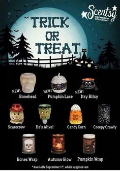 Scentsy Halloween warmers! Available now while supplies last! www.more4urcents.Scentsy.us/