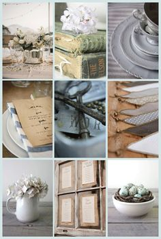 Seascape colours and textures ~ venue decor | PosyRosy