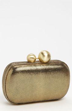 Diane von Furstenberg Metallic Tweed Leather Minaudiere available at #Nordstrom