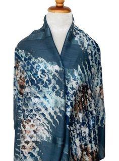 Thai Cotton Silk Art - Galaxy Blue