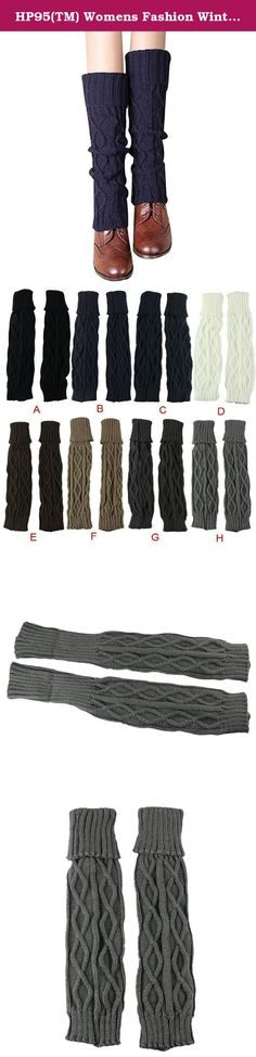 HP95(TM) Womens Fashion Winter Knit Twist Knitted Leg Warmers Legging Boot Cuff (H). Package 1 pair leg warmers.