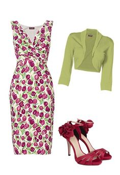 Mother of the bride: Curvy - Mother of the bride outfits.  Maybe sheer shaw instead of jacket...but keep the green!