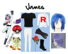 James Pokemon Perruque Adulte Team Rocket Costume Vilain Jessie Anime Hommes Cosplay Go